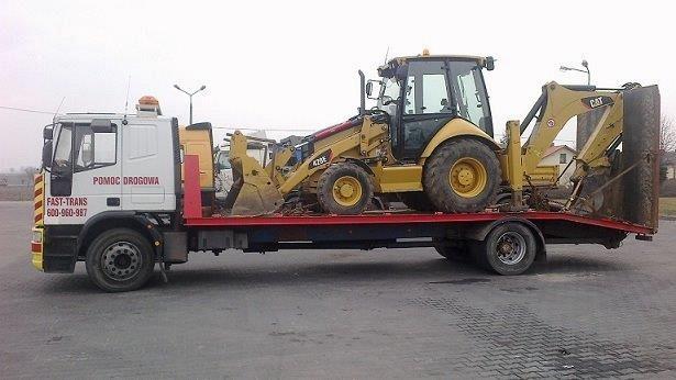 Transport koparek i innych maszyn budowlanych